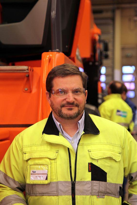 Administrerende direktør ved Doosan i Fræna, Stefan Brosick. (Foto: Kjell Herskedal)