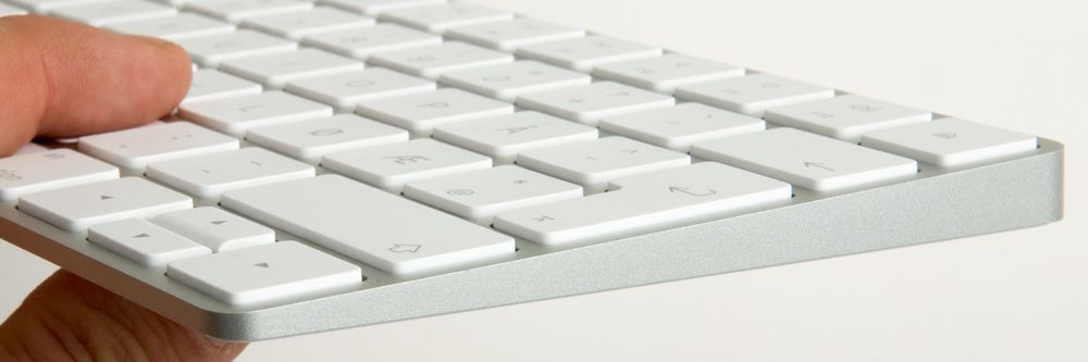 Tastaturet er tynt og lett.