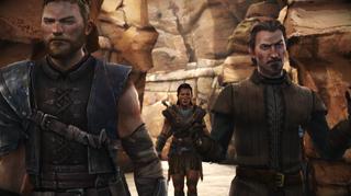 Asher, en av de fire figurene man styrer, har blitt forvist til i Essos.