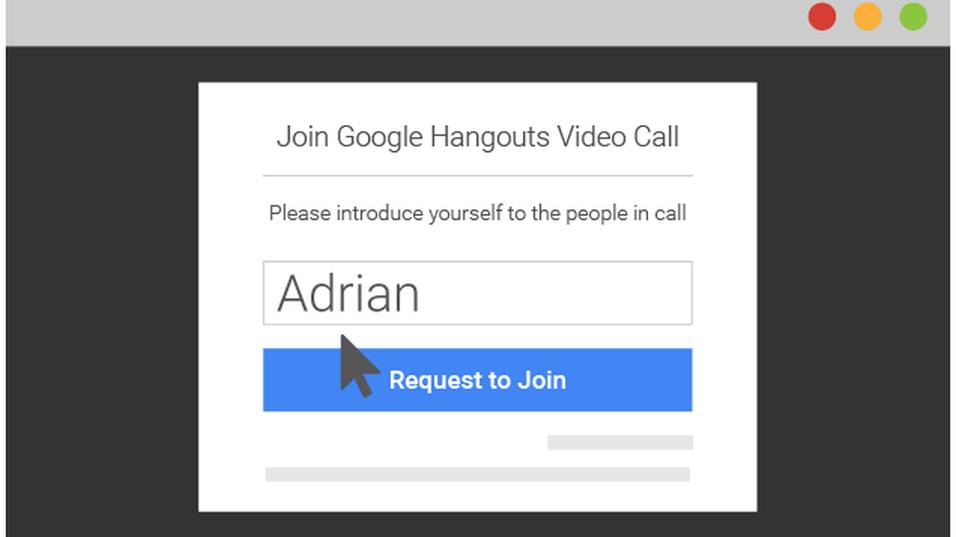 Dette er skjermen som inviterte gjester møter etter den nye Hangouts-oppgraderingen.