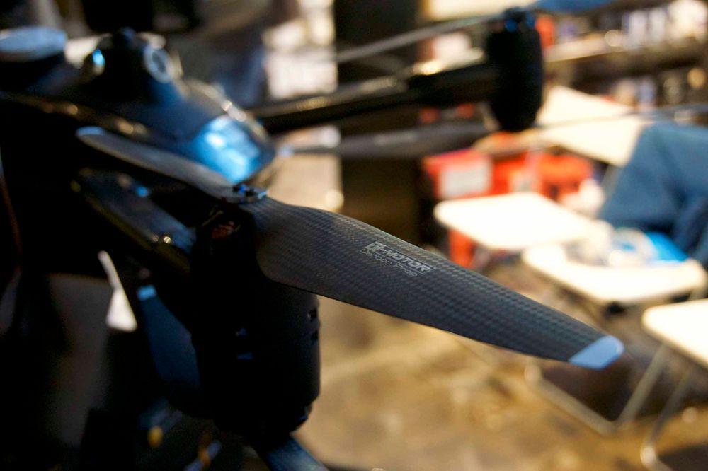 Karbonfiber gjelder også på propellene.