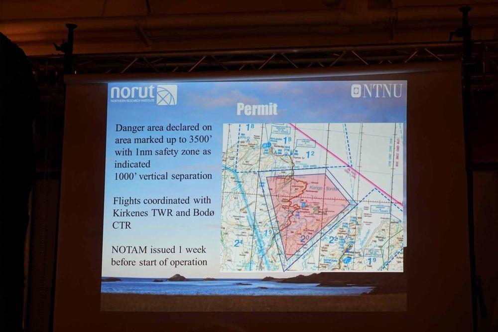 Kart som viser et eksempel på et «fareområde». Slik må man melde inn til Luftfartstilsynet om man vil fly såkalte BLOS-droner, eller Beyond Visual Line of Sight. Altså droner du kun styrer gjennom kamera og en skjerm/briller, og ikke kan se fysisk.