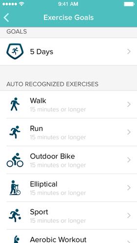 SmartTrack kan gjenkjenne flere ulike aktiviteter automatisk.