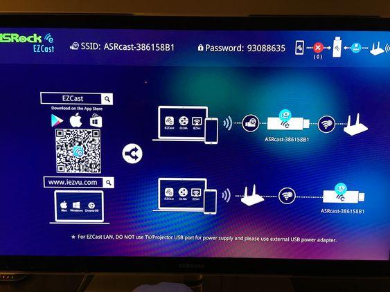 Dette er skjermbildet som møter deg når du plugger miniruteren/strømmepinnen i TV-en.