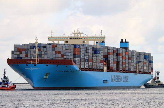 Maersk Mckinney var det første containerskipet med kapasitet på over 18.000 TEU, levert fra DSME i 2013.