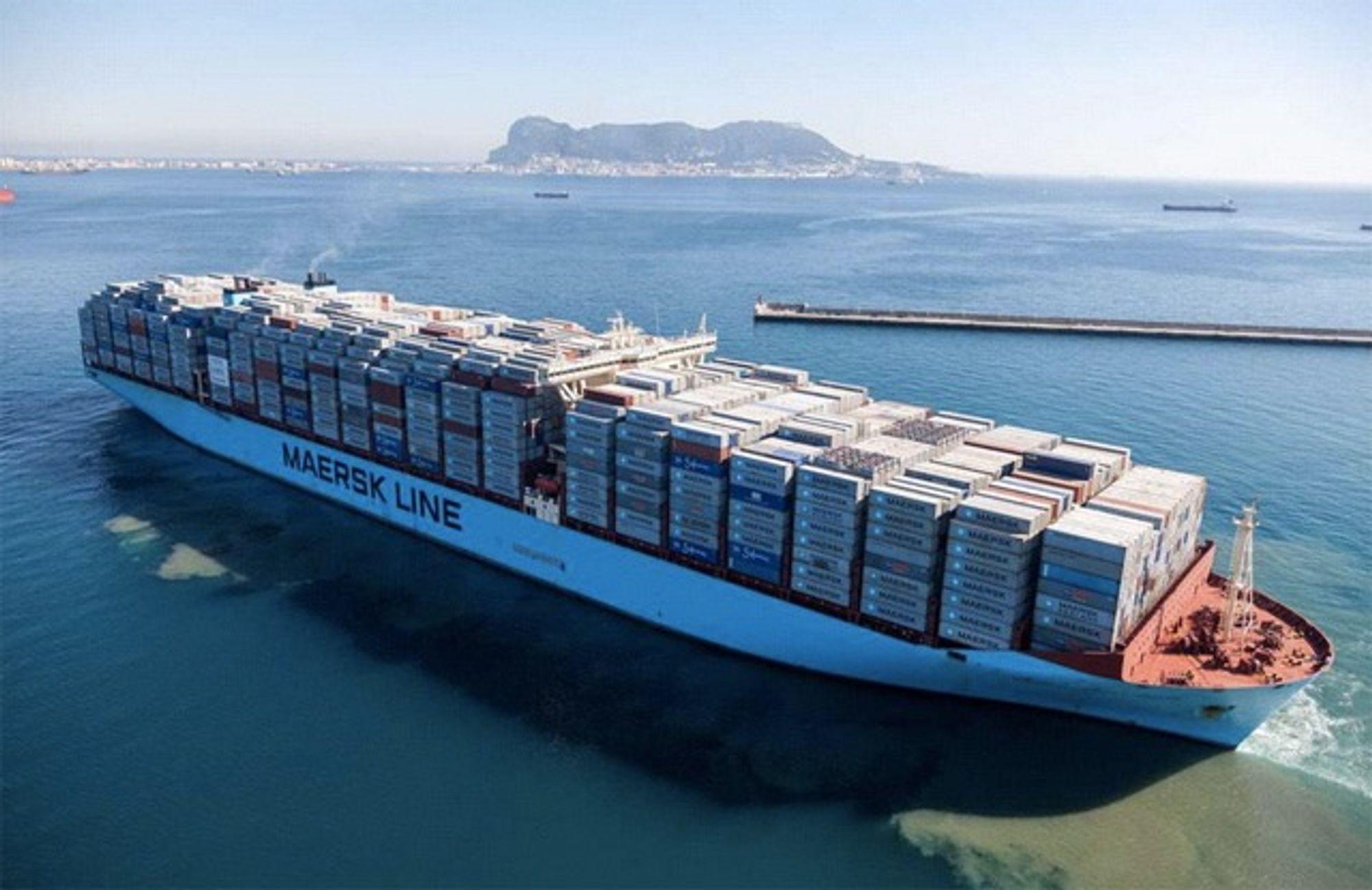 Maersk Mc-Kinney Moller la ut fra Algeciras i Spania 26. januar 2015 med 18.168 containere om bord. Det er verdens første med over 18.000 TEU i lasten. Kursen er satt mot Malaysia.