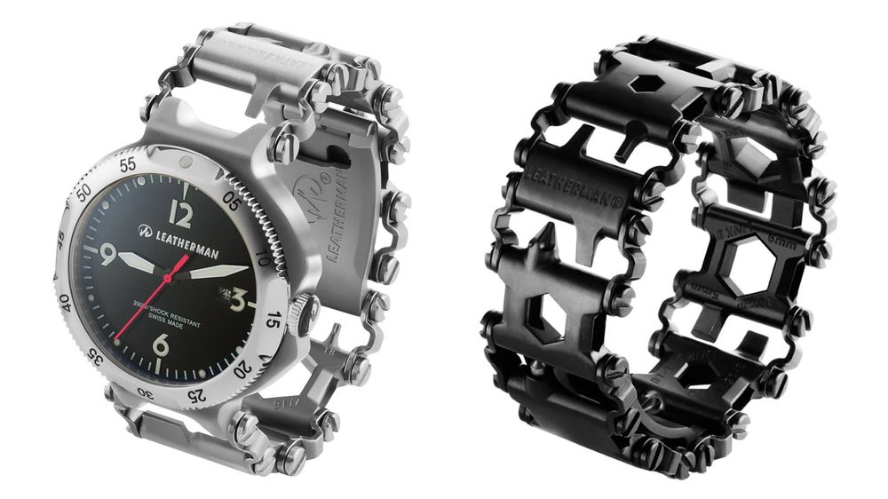 Ur: Selskapet selger også  verktøyarmbåndet med en tilhørende klokke.