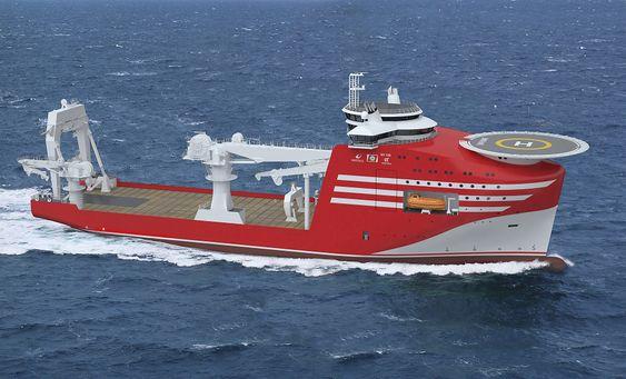 Konstruksjonsskip og ankerhåndteringsfartøyet NY120 som Noryards Fosen har designet ï tett dialog med BOA og Wärtsilä. Skipet skal ha 600 tonns vinsj og offshorekran  på 150 tonn, med mulighet for 250 tonn.