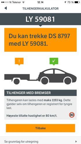 Bil og henger - app
