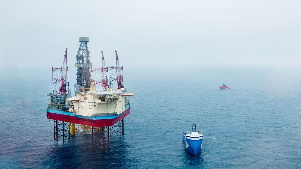 Dødsulykken på Tambar-feltet, skjedde på riggen Maersk Interceptor (bildet).