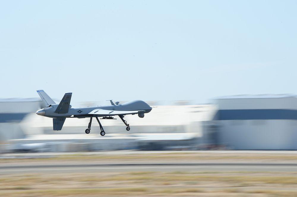 163. Reconnaissance Wings MQ-9 Reaper-drone fløy første gang 30. juli i fjor. Et år etter ble den satt inn i den første søk- og redningsaksjonen.