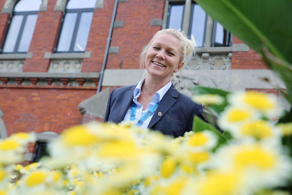 Ingeniør Margrethe Nygård (36) er strålende fornøyd med å ha fått jobb i Kristiansand kommune.