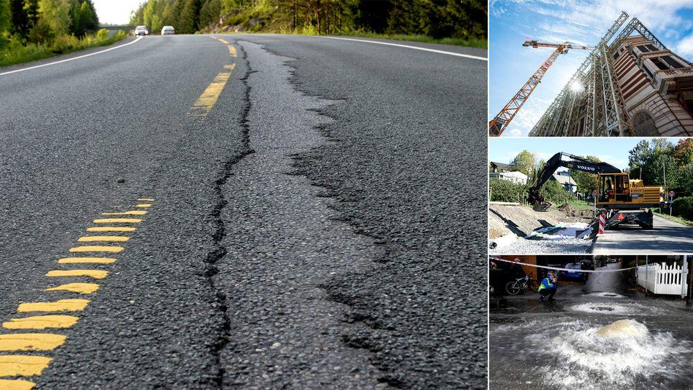 Bygg og vei er blant de områdene nordmenn er minst fornøyd med kommunenes arbeid.