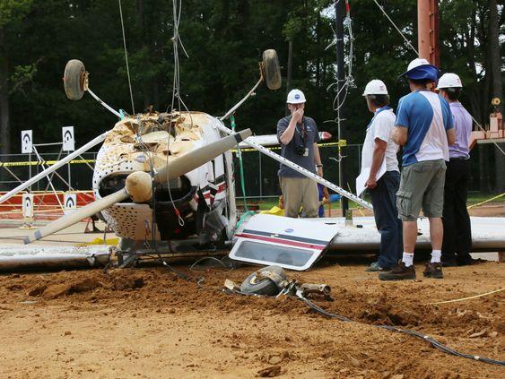 Slik endte slipptesten for Cessna-flyet.