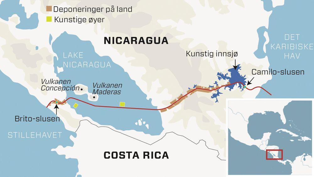 Nicaraguakanalen gir store naturinngrep. Massene vil skape to kunstige øyer i Nicaraguasjøen og nytt jordbruksland langs kanalen. I øst skal det bygges et ti kiliometer langt dike som vil skape en kunstig innsjø.