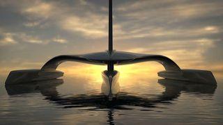 Trimaranen «Mayflower» skal krysse Atlanteren på vind- og solkraft