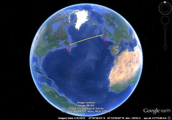 Den åpne regattaen for autonome seilbåter går fra St. John's i Canada til Dingle i Irland. Strekningen er på 2.900 km.