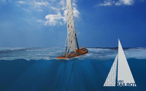 Artist impression av «Ada». Solceller dekker store deler av dekket. Seilrigg er basert på windsurferrigg.