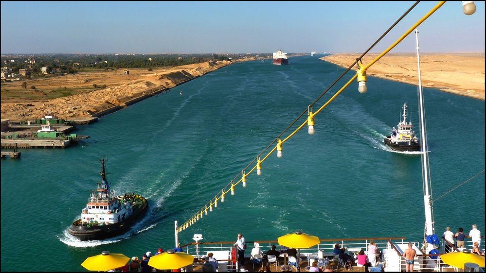 suezkanalen kart Nå åpner den kraftig oppgraderte Suez kanalen   Tu.no suezkanalen kart