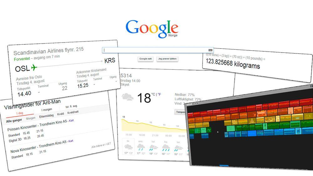 Google kan hjelpe deg med langt mer enn bare enkle nettsøk. Her er noe av det søkemotoren kan hjelpe deg med.