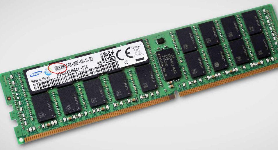 Minnebrikkene blir stadig større. Denne er på 128 gigabyte, og i første omgang tiltenkt servere. Men litt avhengig av prisen blir vi ikke overrasket om slikt utstyr finner veien inn i spill-PC-er også.