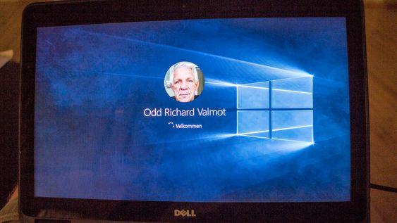 Og vips: Så var installasjonen ferdig. Windows 10 meldte seg klar til bruk.