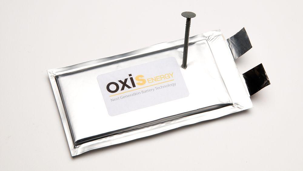 Oxis Energy skal ha løst en av litiumsvovelbatterienes store utfordringer, som er sikkerheten. De skal tåle selv perforering.