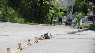 Her tester de om grunnen under Bærum tåler den nye gigantveien