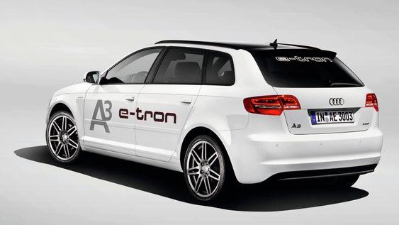 Audi A3 e-tron skal klare inntil fem mil på batteri.