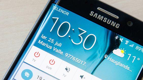 Android-telefoner kan vise den informasjonen du vil på låst skjerm, for eksempel navn og nummer til eier.