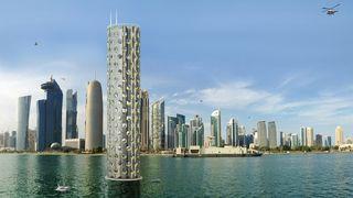 750 meter høy bygning i havet skal kunne huse 25.000 mennesker
