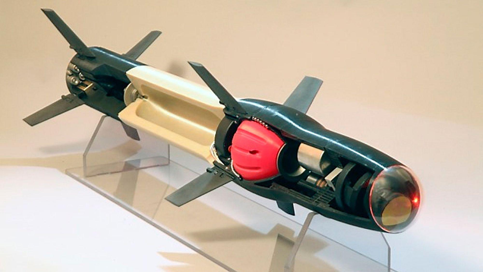 Denne modellen viser hvilke deler av et missil som kan 3D-printes i dag.