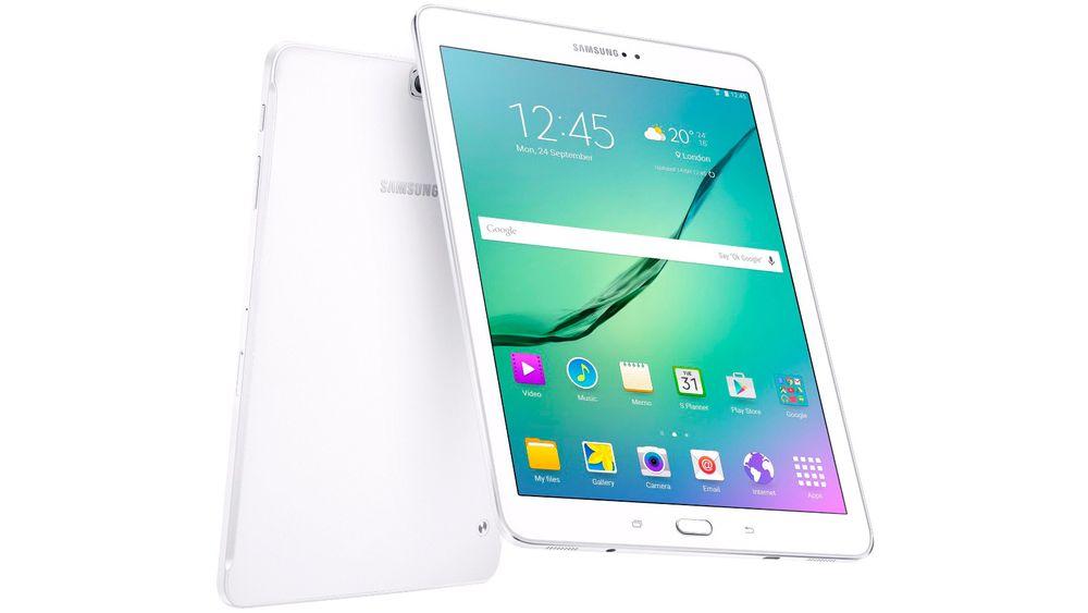 Samsung Galaxy Tab S2 har samme skjermstørrelse som iPad.