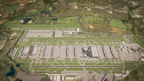 Heathrow utenfor London er verdens tredje travleste lufthavn målt i passasjerer. Etter mye om og men ligger det nå an til at Heathrow bygges ut med en tredje rullebane og en ny terminal nord for det eksisterende anlegget.