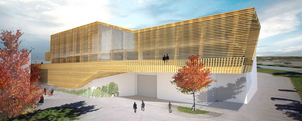 Nullutslippslaboratoriet på Gløshaugen skal forhåpentligvis stå ferdig i 2019.
