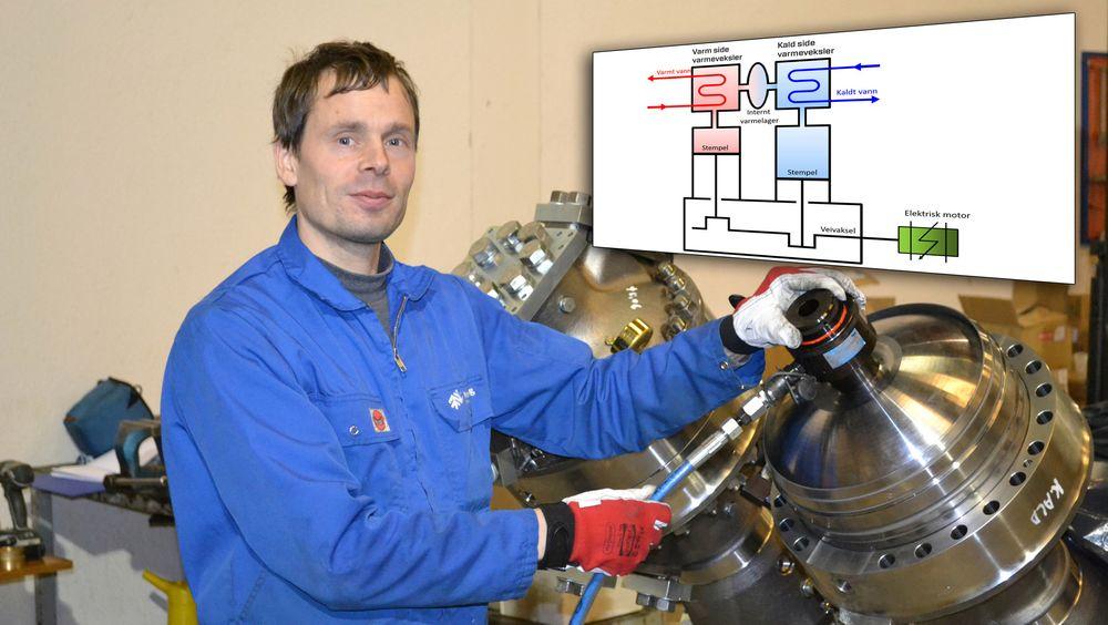 Bygger varmepumper: Teknisk sjef og gründer i Single-Phase Power, siv. ing. Arne Høeg utnytter prinsippene til stirlingmotoren for å bygge svært effektive varmepumper.