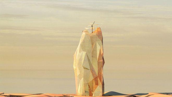 Franske arkitekter vil bygge vertikal by i ørkenen