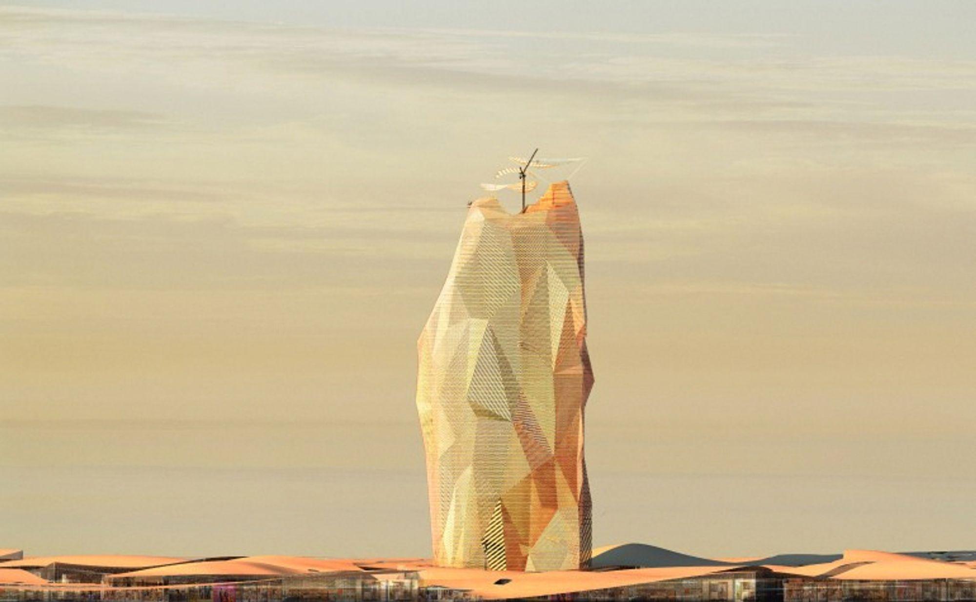 City Sand Tower er en vertikal økoby, tegnet av OXO Architectes.