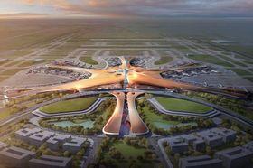 Den planlagte nye flyplassen i Beijing.