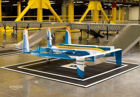Dronen skal levere pakker på under 30 minutter og kan bære en last på opptil 2,3 kilogram.