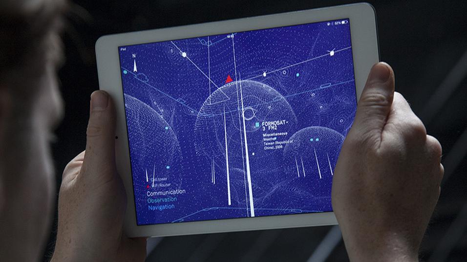 Slik ser visualiseringen av radiobølgene ut.