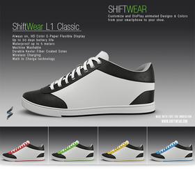 Skoene kan leveres i flere ulike farger.