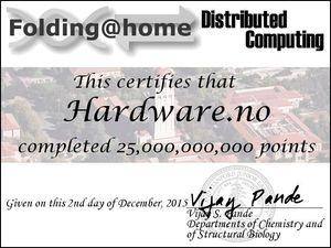 Team Hardware.no har passert 25 milliarder poeng.