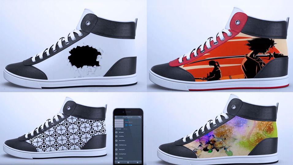 Disse skoene kan du endre utseende på ved hjelp av en  mobilapp