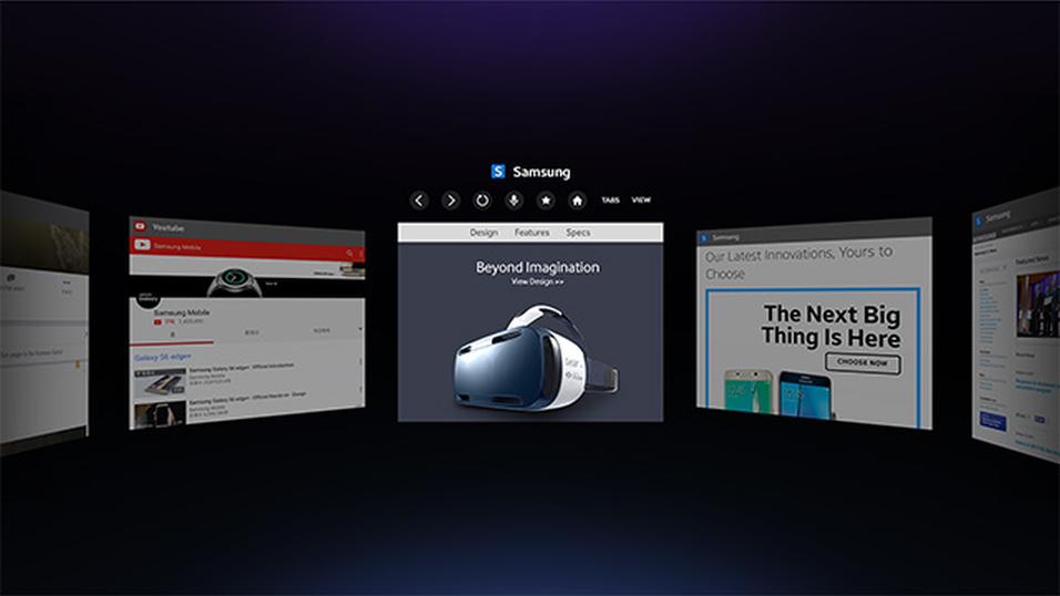 Slik ser det ut i den nye VR-nettleseren, selv om et 2D-bilde selvsagt ikke gir et korrekt inntrykk.