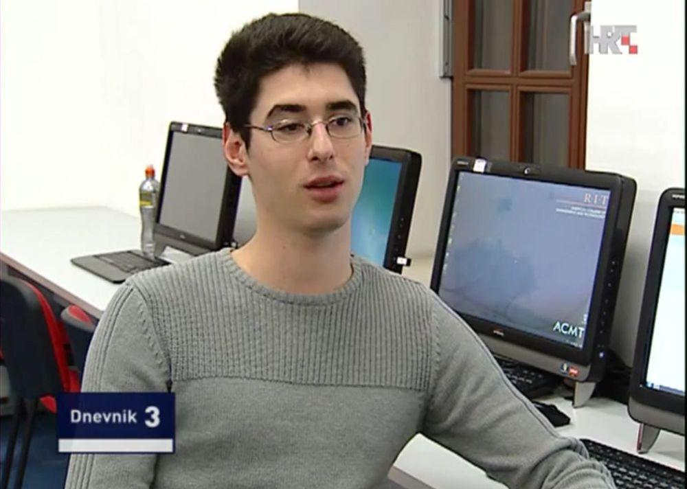 Lukrativ hobby: Josip Franjković tjener godt på å avdekke sikkerhetshull, penger som kommer godt med som student. Her fra et intervju med kroatisk tv i 2013. (Faksimile fra Youtube)
