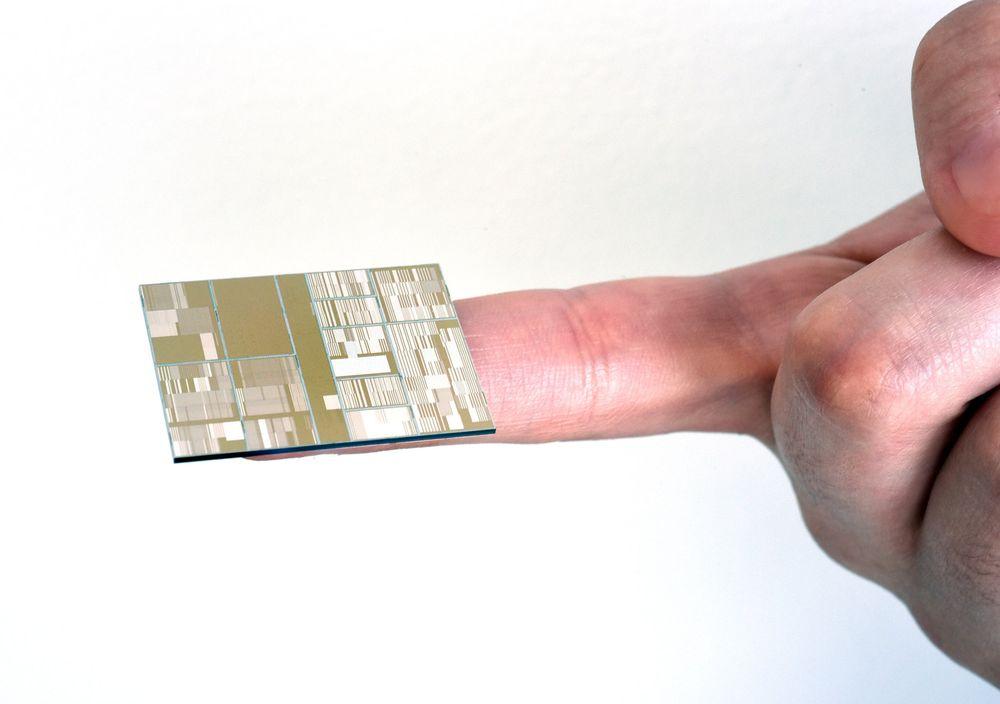 En fungerende prototyp på en syv nanometers-brikke.