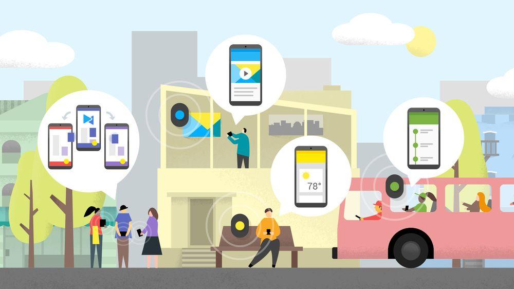 Slik illustrerer Google Eddystone-protokollen som Physical Web bruker.