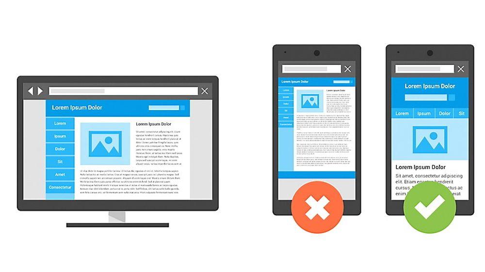 Websider som er lagd for å vises på en pc-skjerm fungerer ofte dårlig på mobile enheter. Dårligere plassering i søkeresultatene til Google vil snart bli en konsekvens for nettsteder som ikke har tatt hensyn til at mange bruker smartmobilen når de søker etter informasjon på nettet.