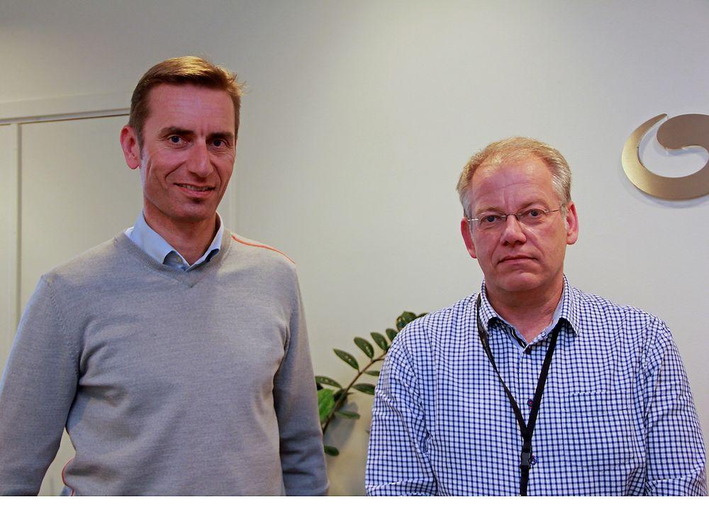Buypass, her ved administrerende direktør Gunnar Lindstøl og sikkerhetssjef John Arild Johansen, satser nå på det globale markedet.